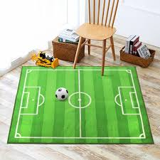 Funs Sport Football Soccer Field Ground Room Bedroom Playroom Carpet Mat Kids Area Play Floor Rug Green 39x51 Want Kids Area Rugs Kids Rugs Kids Rugs Boys