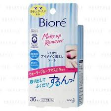 kao biore makeup remover sheet