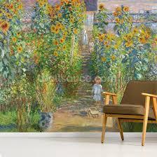 claude monet artists garden at vetheuil