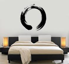 Personality Pattern Vinyl Wall Decal Wall Circle Enso Zen Calligraphy Japan Nirvana Stickers For Living Room Bedroom Sticker On Wall Sticker On Wall Decor From Joystickers 9 5 Dhgate Com