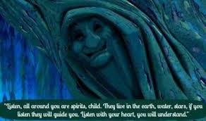 grandmother willow gangsta girl in disney quotes