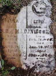 Effie Davidson (1858-1877) - Find A Grave Memorial