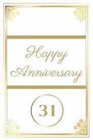 happy anniversary 31 31st anniversary
