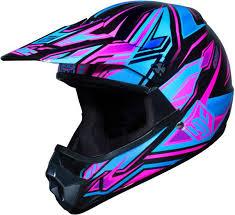 cl xy kids pink hjc motocross helmet