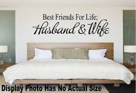 Best Friends For Life Husband And Wife Decal Husband And Etsy In 2020 Wall Decor Bedroom Bedroom Wall Bedroom Decor