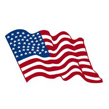 Waving American Flag Decals