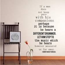 Different Drummer Wall Decal Quote By Henry David Thoreau Etsy