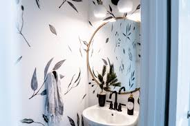 Powder Room Update With Wall Decals Anna Mae Groves