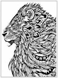 Realistic Lion Adult Coloring Pages Free Kleurplaten Draken