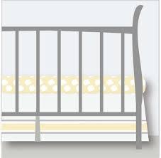 light grey yellow crib skirt nursery
