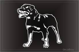 Rottweiler Decals Stickers Decalboy