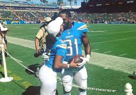 Wife of Chargers S Adrian Phillips escorted away after jumping ...