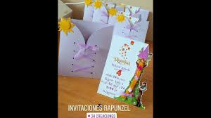 Invitaciones Rapunzel Youtube