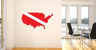 Scuba World Countries Wall Decals Dezign With A Z