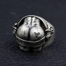 sterling silver hip hop big ring