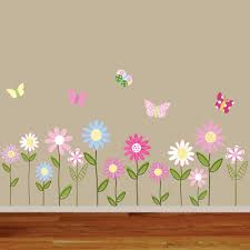 Vinyl Wall Decal Vinyl Wall Decal Stickers Daisy Flowers Butterflies Flower Wall Stickers Wall Decal Sticker Flower Wall