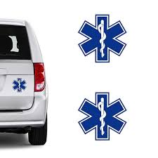 Fashion Star Of Life Car Styling Auto Decorative Diy Car Stickers Car Window Decal Size Blue White Color Blue Wish