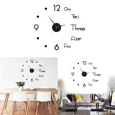 Diy Large Wall Clock Modern 3d Sticker Silent Home Living Room Decor S Buy At A Low Prices On Joom E Commerce Platform