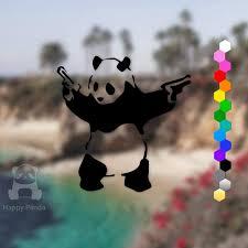 50 Off Banksy Panda With Guns Car Vinyl Decal Graffiti Etsy