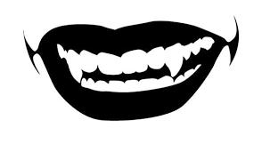 Amazon Com Sexy Vampire Teeth Mouth Vinyl Decal Sticker Car Window Bumper 15 Wide Gloss Black Color Automotive