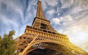 تحميل خلفيات برج إيفل باريس الخريف غروب الشمس مساء فرنسا