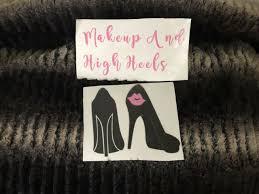 Pink Makeup Lovers Black Shoes Yeti Tumbler Mug Car Mirror Decal Sticker Sale Ebay