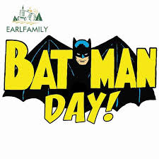 Earlfamily 13cm X 7 6cm For Batman Day Logo Car Stickers And Decals Refrigerator Vinyl Car Wrap Scratch Proof Waterproof Car Stickers Aliexpress