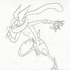 Greninja Pokemon Ash Coloring Pages Kleurplaten Pokemon Tekenen