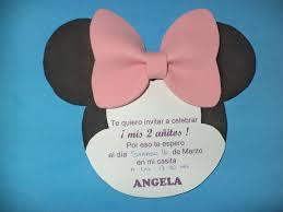 Imagina Diseno Invitacion Minnie Mouse