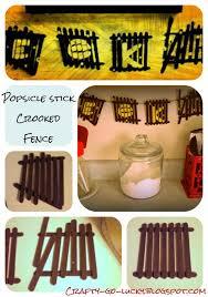 Crafty Go Lucky Popsicle Stick Spooky Fence