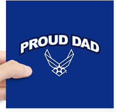 Amazon Com Cafepress U S Air Force Proud Dad Square Sticker 3 X 3 Square Bumper Sticker Car Decal 3 X3 Small Or 5 X5 Large Home Kitchen