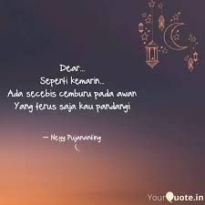 dear seperti kemarin quotes writings by neyy