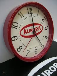 Aurora Slot Car Ho Logo Wall Clock Red W Free Decal 139009057