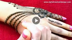 simple and easy jewellery mehndi design