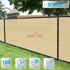 Amazon Com Patio Paradise 5 X 50 Tan Beige Fence Privacy Screen Commercial Outdoor Backyard Shade Windscreen M Outdoor Backyard Backyard Shade Wind Screen