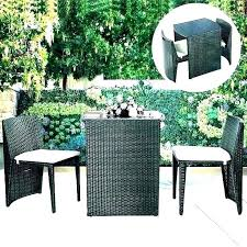 small round patio table set outdoor and