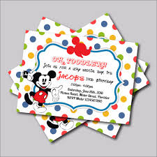 14 Pcs Lot Mickey Mouse Birthday Invitations Mickey Baby Shower