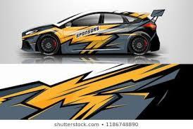 Design Race Vehicle Vector Advertising Design Automobile Branding Design Decal Car Drifting Car Geometric Illustration Car Wrap Design Car Car Wrap