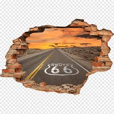 Sticker U S Route 66 Wall Decal Travel Travel Glass Sticker United States Png Pngwing