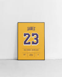 Lebron James Lakers Stats Print Etsy