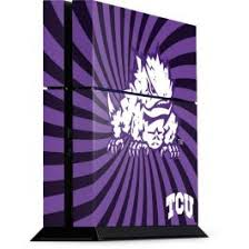 Tcu Horned Frogs Mascot Swirl Ps4 Console Skin
