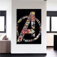 Marvel The Avengers Symbol Iron Man Unique Style 1pc Wall Art Marvel Homedecor Wallart Avengers Wall Art Superhero Wall Art Marvel Wall Art
