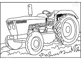 1001 Kleurplaten Voertuigen Traktor Kleurplaat Traktor