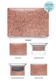 Rose Gold Faux Glitter Laptop Skin Laptop Skin Case Laptop Skin Cover Hp Laptop Skin