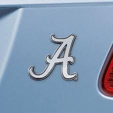 Set Of 2 Ncaa University Of Alabama Crimson Tide Chrome Emblem Automotive Stick On Car Decal Christmas Central