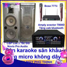 Dàn karaoke sân khấu karaoke gia đình Loa 3 tấc đôi sơn novio pro ...