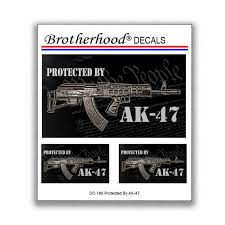 Protected By Ak 47 Car Window Laptop Decal Collection 3 Etsy