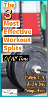 the best workout splits of all time 2
