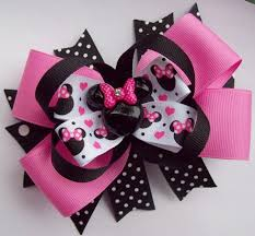 minnie mouse hair clips look at clip