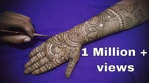 mehndi design easy for full hand